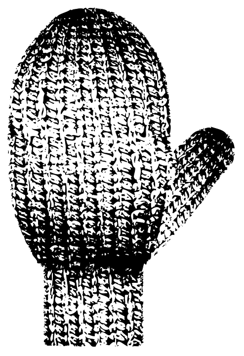 Knitting Hands Clipart : Mittens gloves knitted · free vector graphic on pixabay