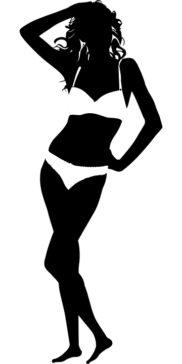 Modelo De Biquíni Mulher Gráfico Vetorial Grátis No Pixabay