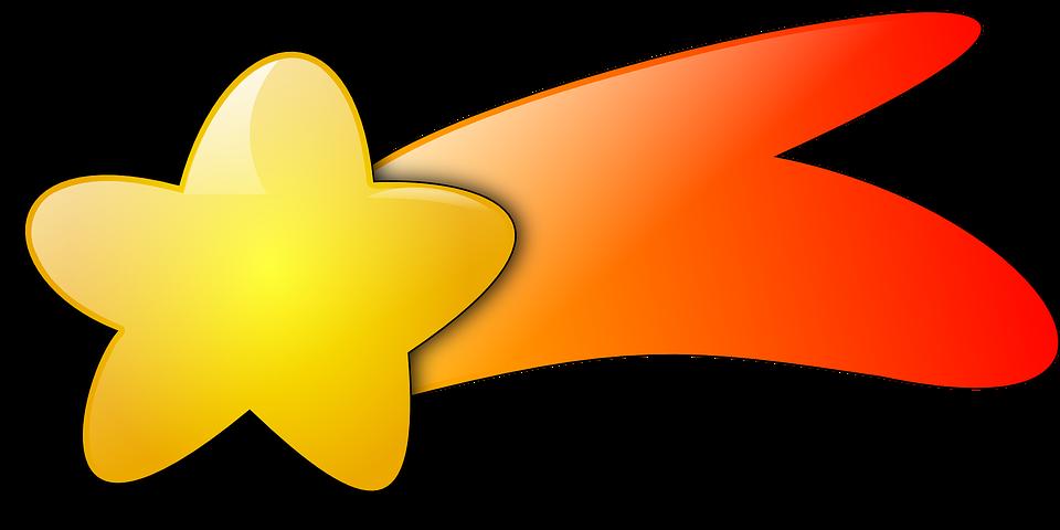 Картинка космическая звезда с хвостом