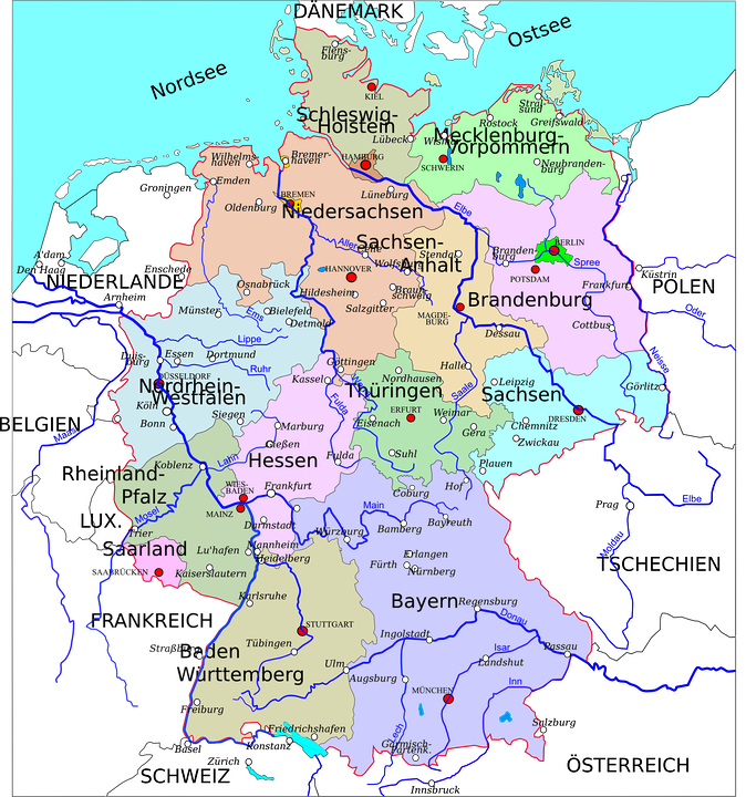 germany states map country europe