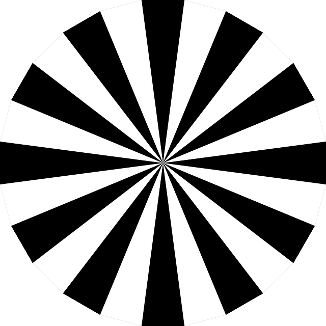 Free Vector Graphic Sunburst Black White Circle Free