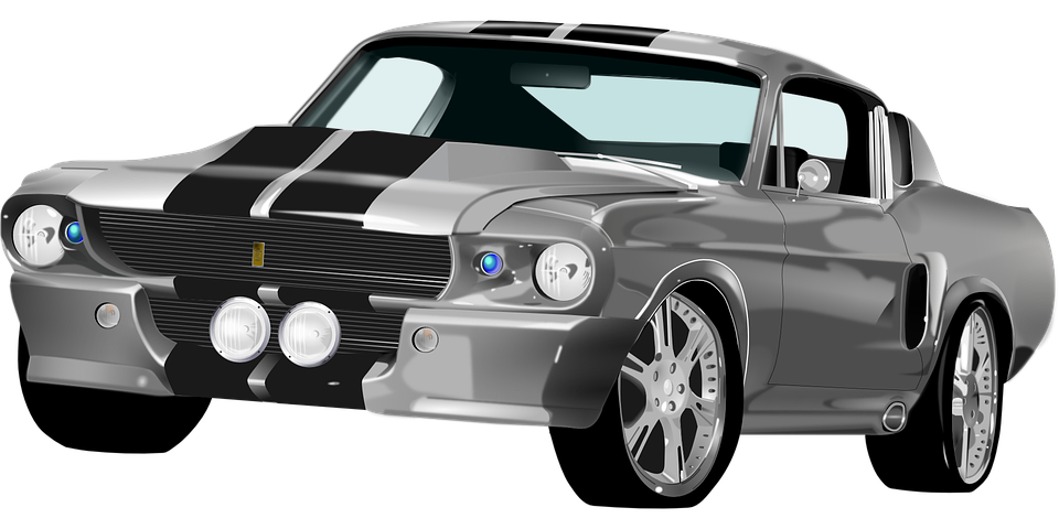 Ford Mustang Roadster Sports Car Racing Car