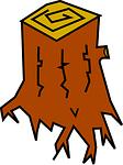 stump, tree, snag