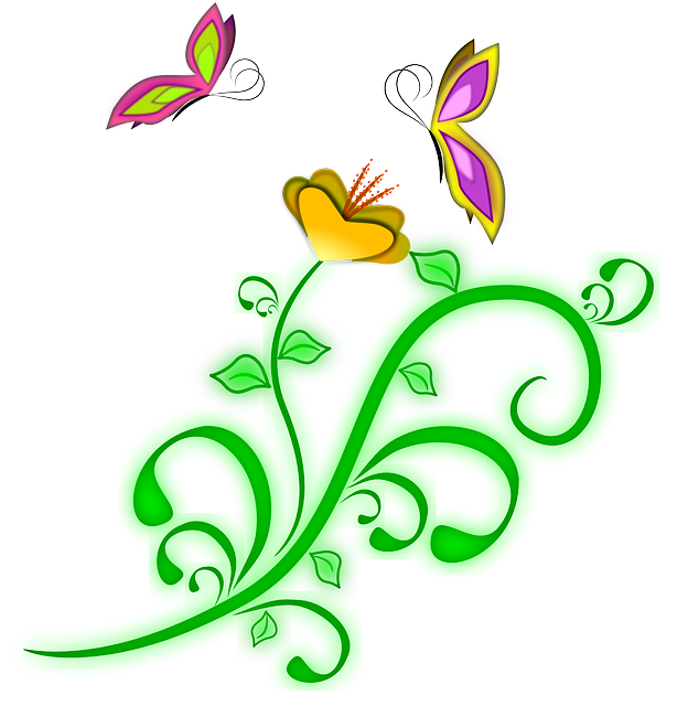 Flower butterflies spring free vector graphic on pixabay mightylinksfo