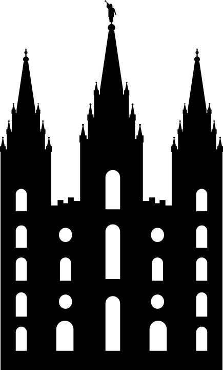 Mormón Templo Silueta · Gráficos vectoriales gratis en Pixabay