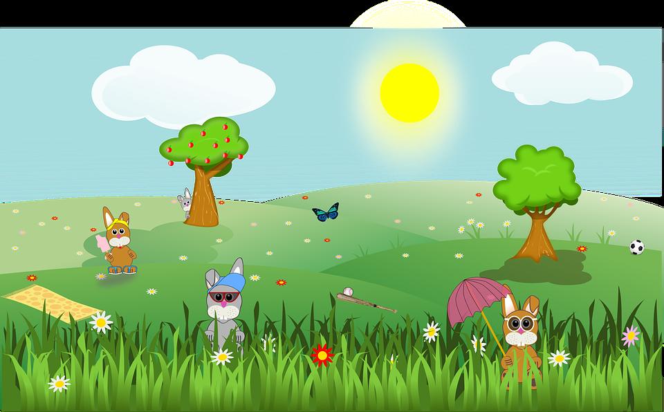 image vectorielle gratuite printemps p ques paysage image gratuite sur pixabay 155312. Black Bedroom Furniture Sets. Home Design Ideas
