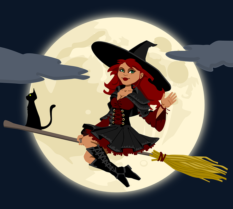 Free vector graphic: Witch, Witchcraft, Broomstick - Free