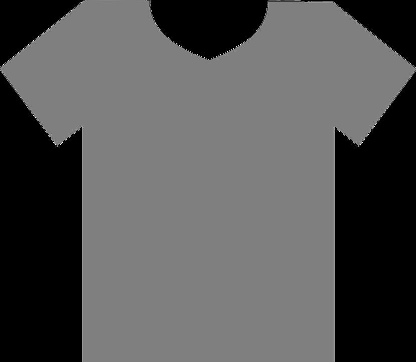 97541485e27 t-shirt gray blank clothes fashion shirt template · Public Domain ·  OpenClipart-Vectors