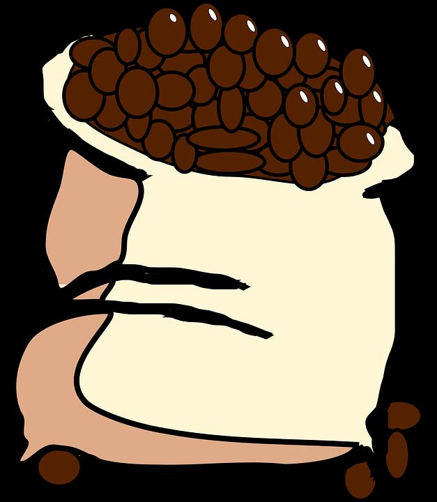 Saco Graos De Cafe Feijao Grafico Vetorial Gratis No Pixabay