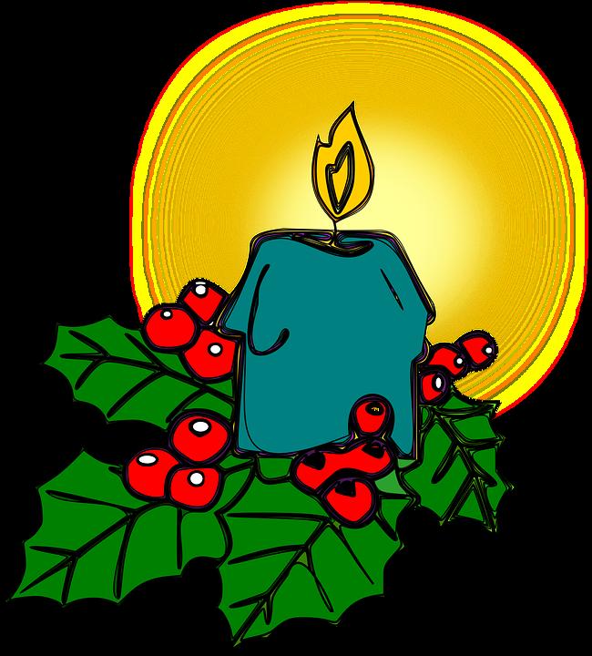 Holly Natal Lilin Gambar Vektor Gratis Di Pixabay