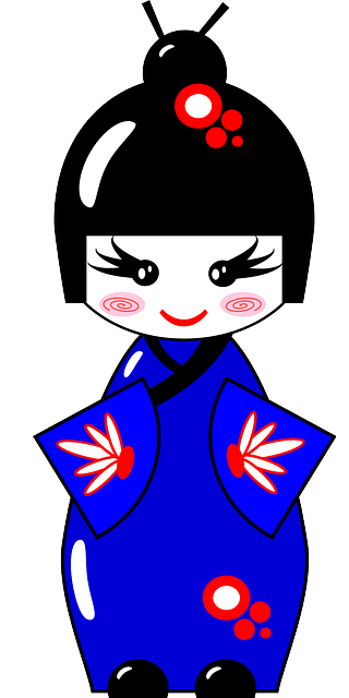 free vector graphic  kimono  doll  japanese  asian  blue - free image on pixabay