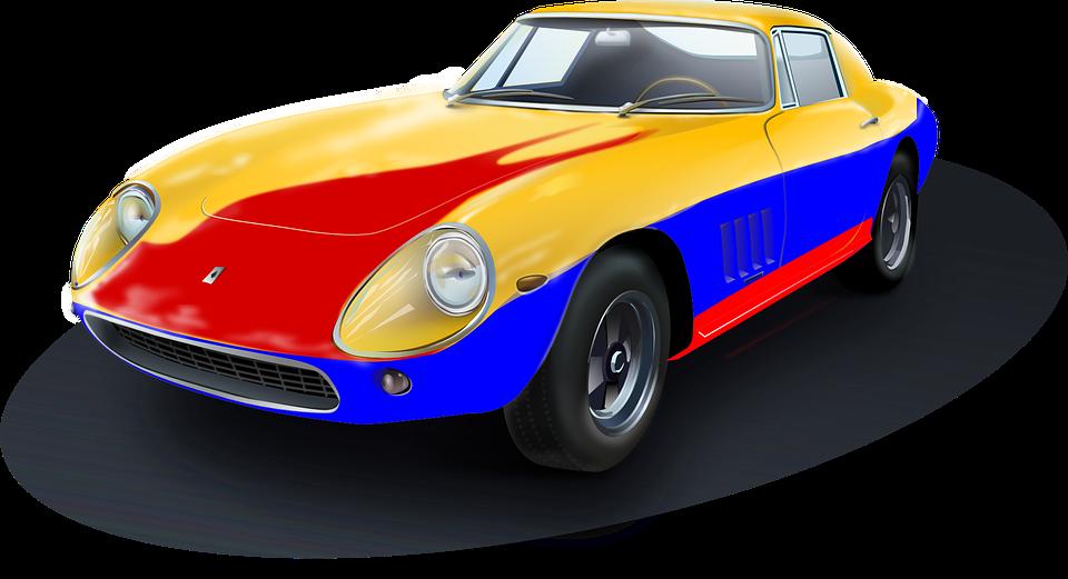 racing car roadster automobile
