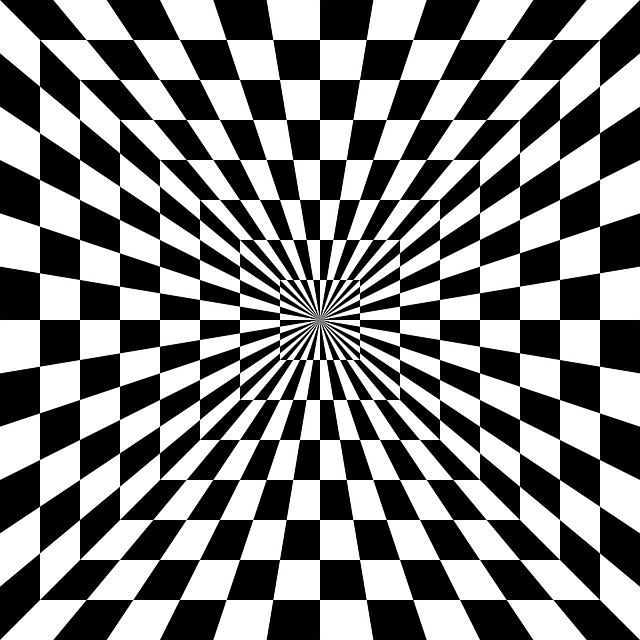Optical Illusions Square Free vector graphic: O...