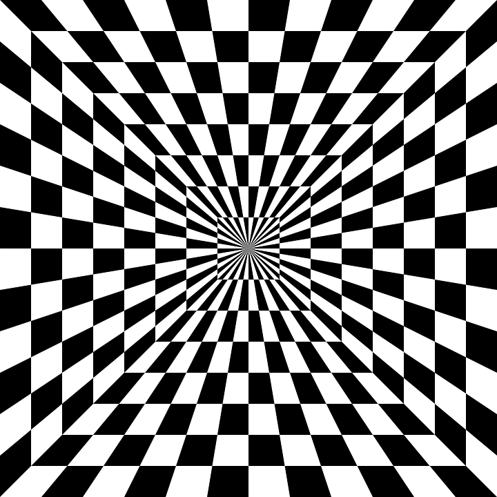Image vectorielle gratuite illusion d 39 optique chiquier for Effet miroir psychologie