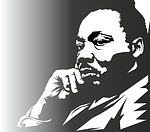 martin luther king, portrait, face