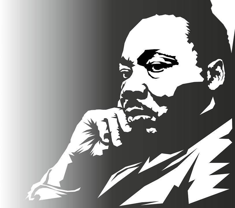 Martin Luther King Portrait Face Free Vector Graphic On Pixabay