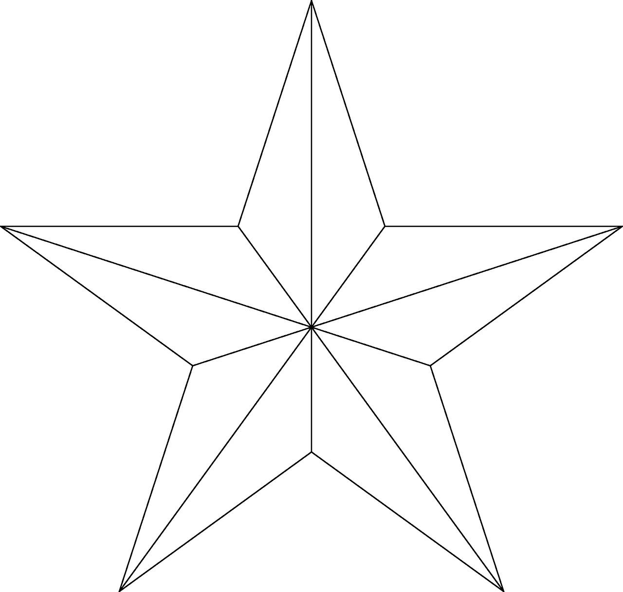 Фото чертежа звезды