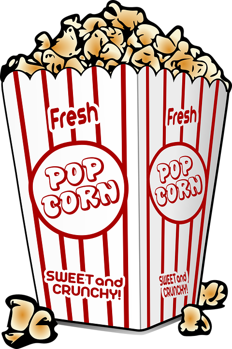 popcorn buttered cinema free vector graphic on pixabay rh pixabay com