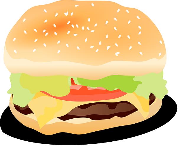 Cheeseburger hamburger burger free vector graphic on pixabay for Hamburger clipart