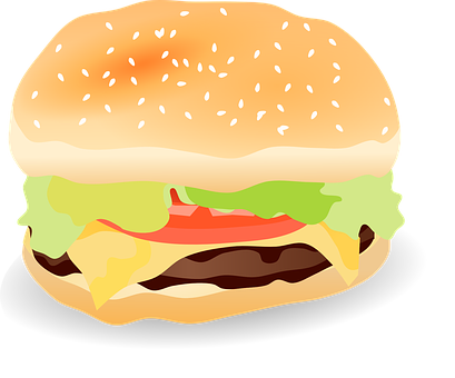 Plain Hamburger Clipart