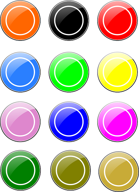 free vector graphic circles  buttons  glossy  colors free commercial use vector clipart free commercial use vector element