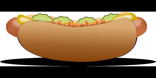 Free Vector Graphic Hotdog Fast Food Food Sausage