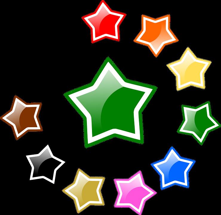 Sterne, Glänzend, Favorit, Bewertung, Farben