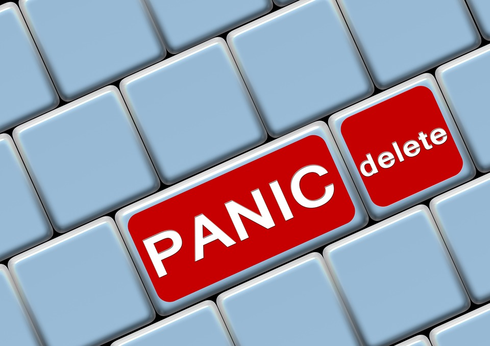 Keyboard, Button, Panic, Eliminates, Delete, Internet