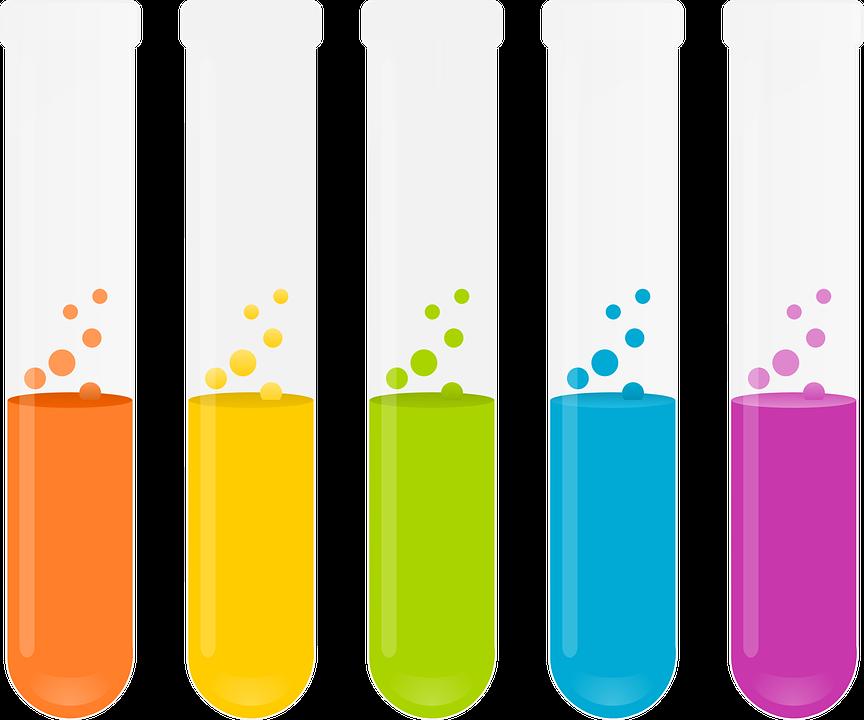 Reagenzgläser, Reagenzien, Chemie, Experiment