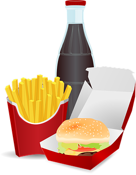 Cheeseburger, Coke, Food, Fries