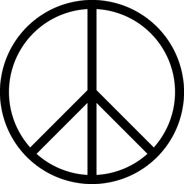 Vrede Symbool Cirkel Gratis Vectorafbeelding Op Pixabay