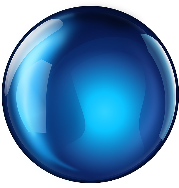 free vector graphic: sphere, blue, glossy, 3d, round - free image