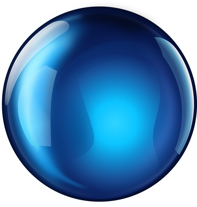 Free Vector Graphic: Sphere, Blue, Glossy, 3D, Round