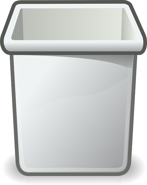 Trashcan Wastebasket Recycle Bin 183 Free Vector Graphic On