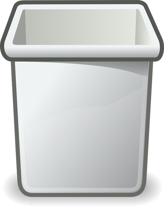 Free vector graphic trashcan wastebasket recycle bin for Toit en polycarbonate transparent