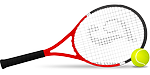 tennis racket, tennis, tennis ball