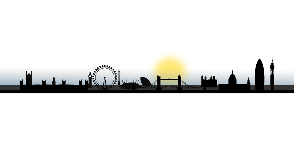 London Skyline Silhouette City Cityscape England
