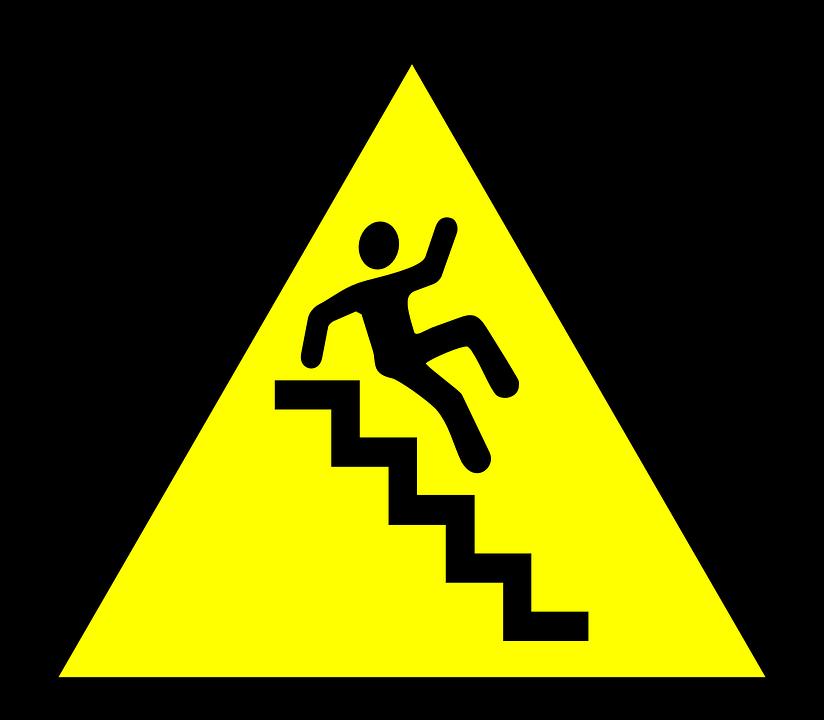 stairs caution hazard free vector graphic on pixabay