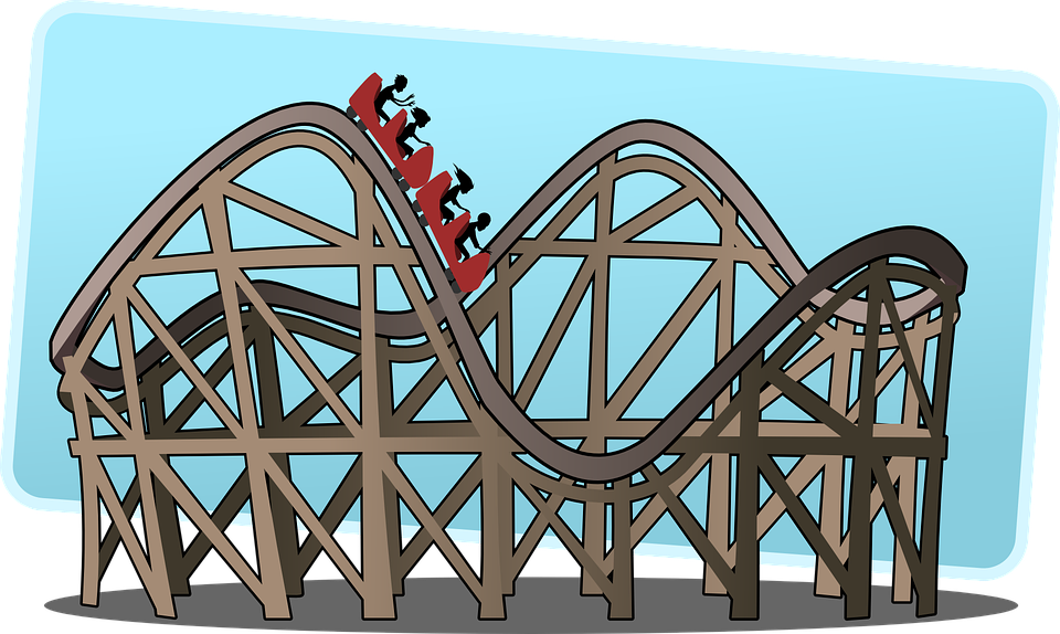 rollercoaster roller coaster big free vector graphic on pixabay rh pixabay com roller coaster clipart black and white roller coaster clipart png