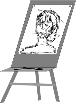 Image result for easel drawing