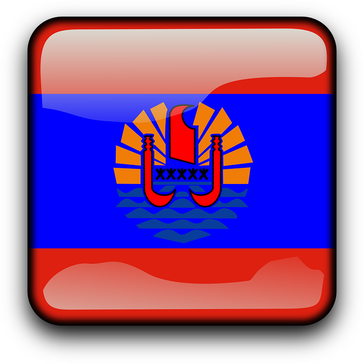 French Polynesia Country Part - 35: French Polynesia Flag Country Nationality Square