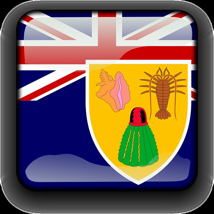 Islas Turcas Y Caicos Bandera Pais Graficos Vectoriales Gratis