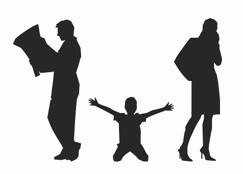 Divorcio, Padres, Niño, Personas