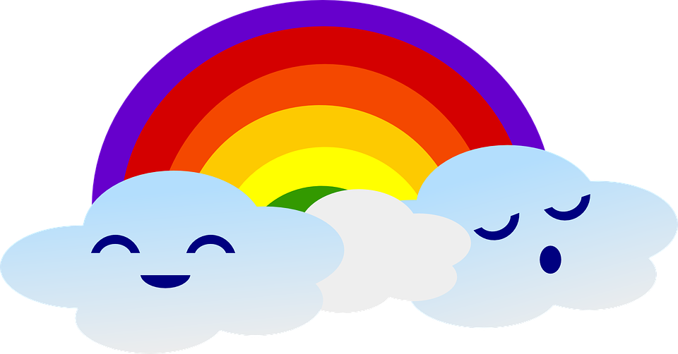 Rainbow Clouds Cute · Free vector graphic on Pixabay