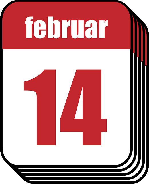 Calendar Day Vector Art : Free vector graphic calendar february valentine