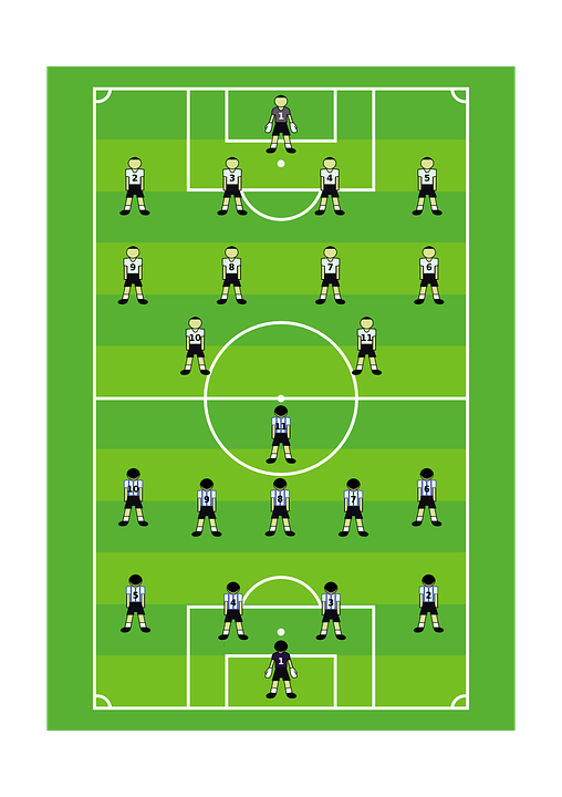 Free vector graphic: Football, Soccer, Pitch, Player