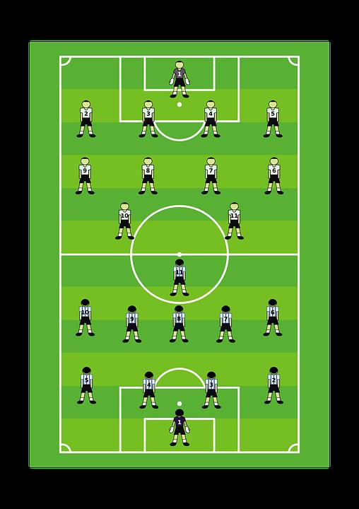 Fútbol, Tono, Jugador, Verde, Grupo, Equipo