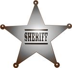 sheriff, badge, cowboy