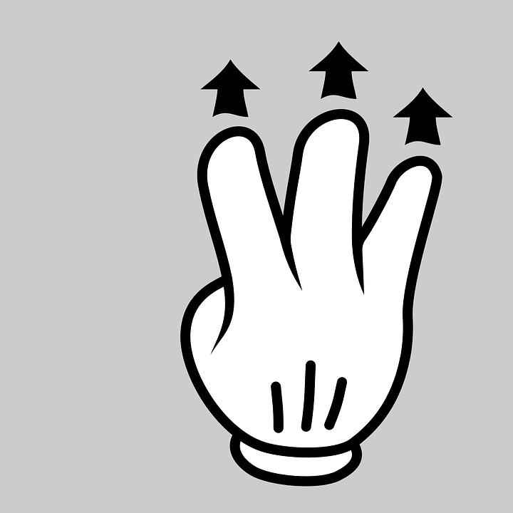 Mano Dedo Gesto · Gráficos vectoriales gratis en Pixabay