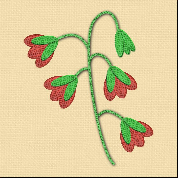 Gambar Vektor Gratis Menyulam Kain Bunga Pola Bordir Desain
